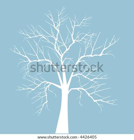 bloßer Winterbaumvektor