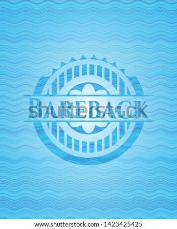 Bareback water wave concept badge. Vector Illustration. Detailed.