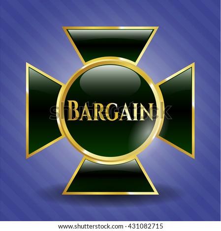 Bargain golden badge or emblem