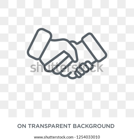 Bargain icon. Trendy flat vector Bargain icon on transparent background from law and justice collection. High quality filled Bargain symbol use for web and mobile
