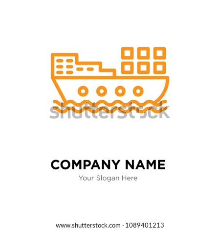 barge company logo design template, Business corporate vector icon, barge symbol