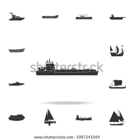 barge ship icon. Detailed set of water transport icons. Premium graphic design. One of the collection icons for websites, web design, mobile app on white background