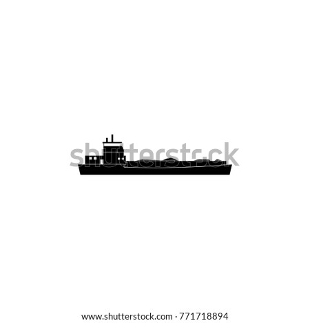 barge ship icon. Water transport elements. Premium quality graphic design icon. Simple icon for websites, web design, mobile app, info graphics on white background