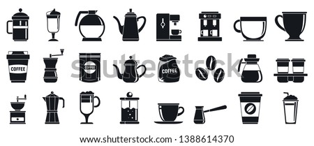 Barista icons set. Simple set of barista vector icons for web design on white background