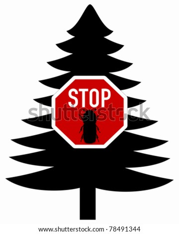 Bark-beetle stop sign
