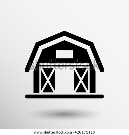 barn icon agriculture farm house building graphic.