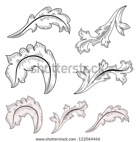 Vector images illustrations and cliparts baroque design for Baroque design elements