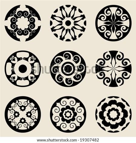 Baroque design elements stock vector illustration 19307482 for Baroque design elements
