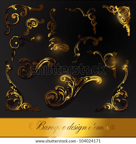 Baroque vector designs images for Baroque design elements