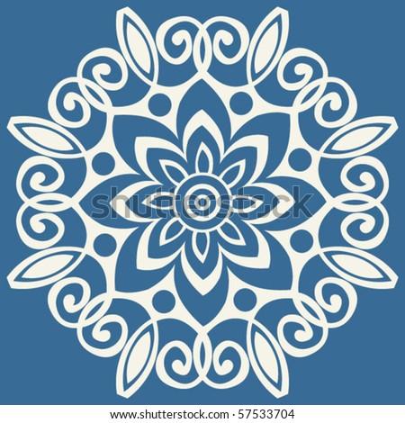 Baroque Floral Decoration, Vector Design Elements - 57533704