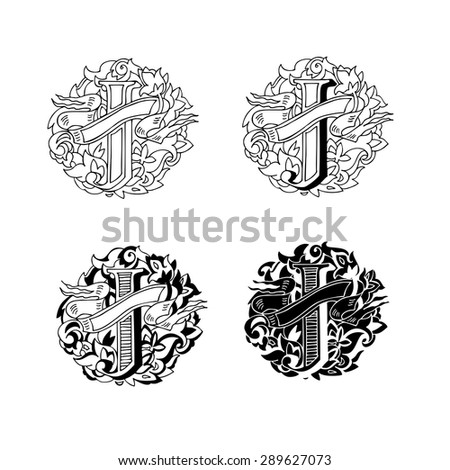 baroque letters of the alphabet