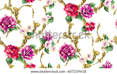 baroque pattern with branch
