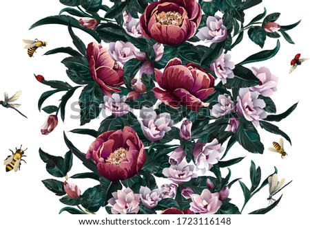 baroque pattern with floral