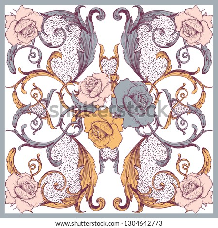 baroque style elements with