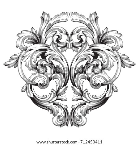 Baroque vector of vintage element for design. Decorative design element filigree calligraphy vector. You can use for wedding decoration of greeting card and laser cutting.