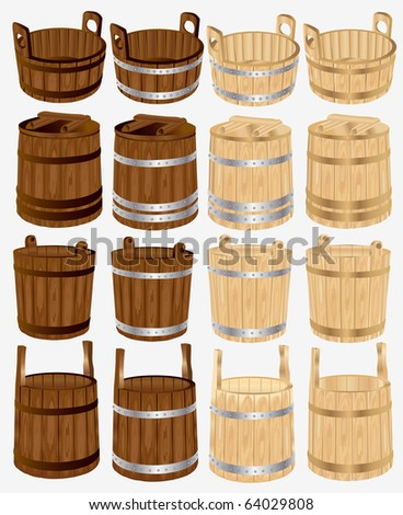 barrel bucket pail tub wood