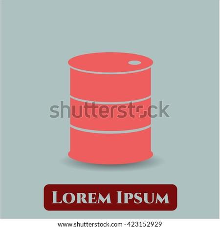 barrel icon vector symbol flat eps jpg app web concept website