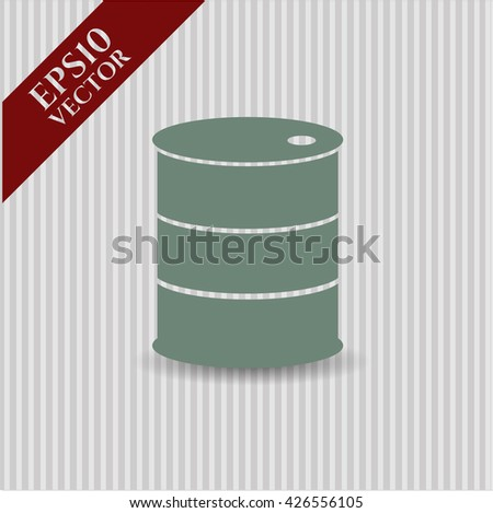 barrel icon vector symbol flat eps jpg app web concept website