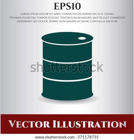 Barrel vector icon or symbol
