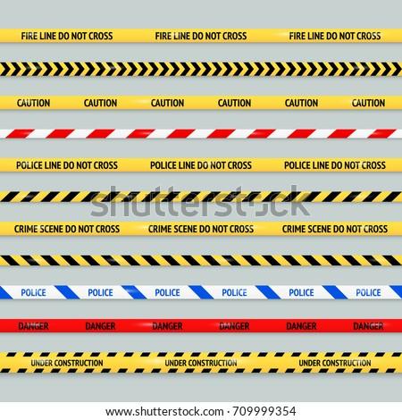 barricade tape design element...