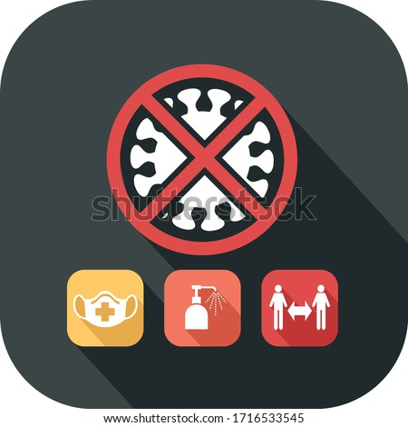 Barrier gestures icon to protect against the Covid-19 virus  Stockfoto ©