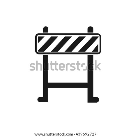 Barrier icon Vector. Flat icon Barrier. Flat vector illustration for web banner, web and mobile. Vector Barrier icon graphic. Vector icon isolated on white background. Barrier vector icon in black.