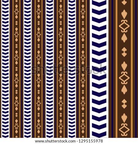 Barroco Stripes Tribal Foto stock ©