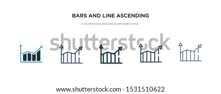 bars and line ascending of data