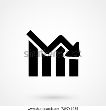 bars descending graph icon isolated on background. Modern flat pictogram, business, marketing, internet. Trendy Simple vector symbol for web site design or button to mobile app. Logo illustration