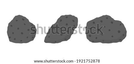 Basalt hand specimen. Mafic extrusive igneous rock Stock fotó ©