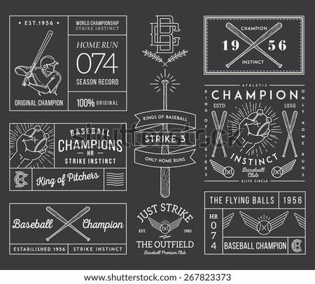 baseball badges and icons