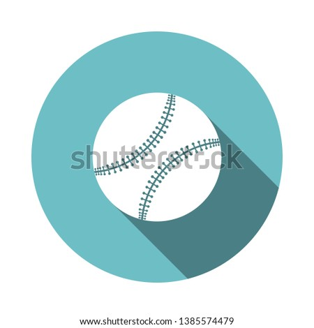 ad4c3ed5ad477 Baseball Ball Icon. Flat Circle Stencil Design With Long Shadow. Vector  Illustration. -