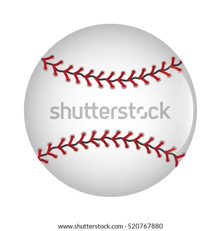 baseball ball icon graphic