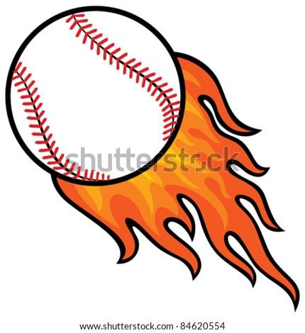 baseball ball in fire
