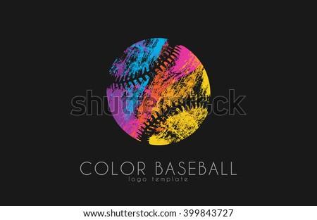 Baseball ball logo. Sport logo. Baseball creative logo