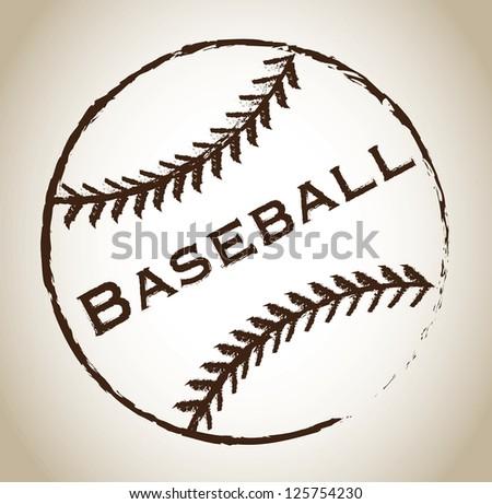 Baseball ball over gray background vector illustration