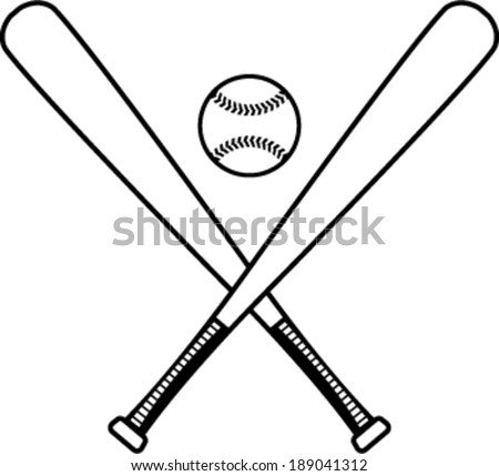 baseball bats download free vector art stock graphics images rh vecteezy com Baseball Bat and Ball Clip Art Baseball Bat Vector Logo