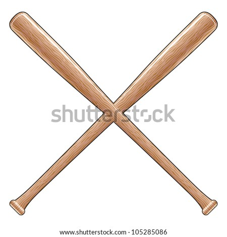 Metal softball bat clipart