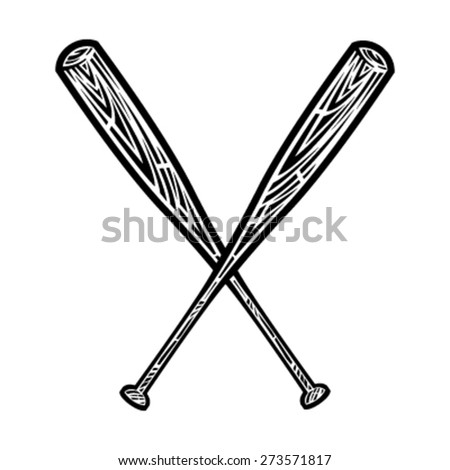 baseball bats vector icon