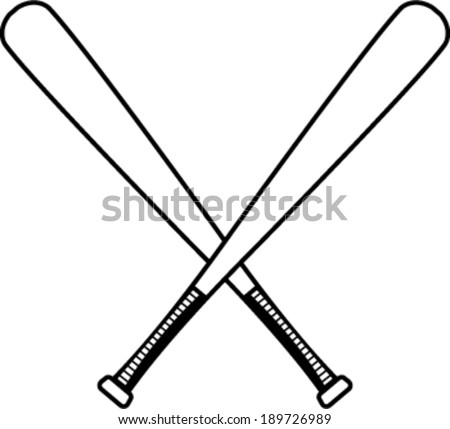 baseball bats download free vector art stock graphics images rh vecteezy com Crossed Baseball Bats Silhouette Baseball Bat Vector Art