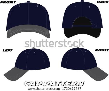 Baseball cap design vector template