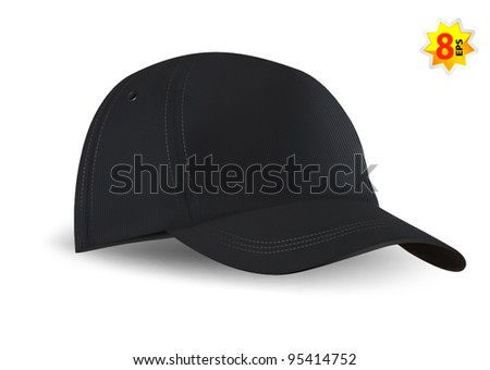 Baseball cap template. Mesh & gradients only.