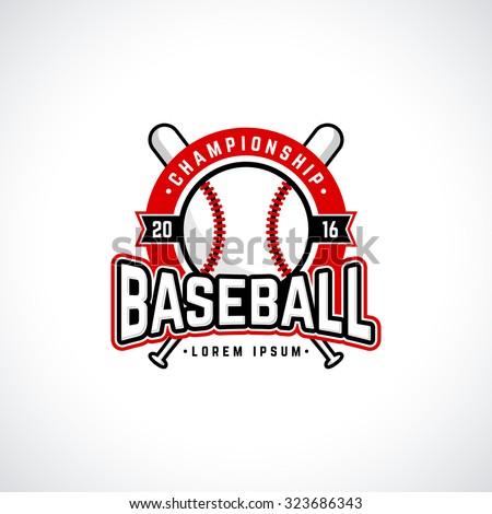 baseball championship logo with