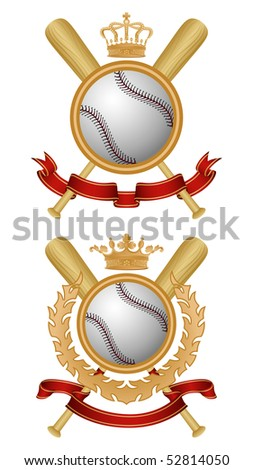 Baseball coat of arms. Vector illustration.