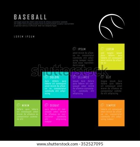 baseball colorful black