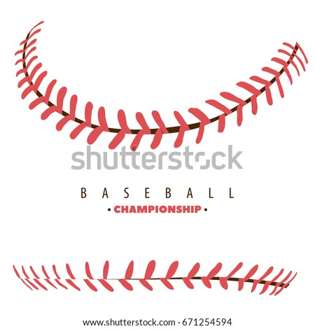 baseball competition poster red stitching
