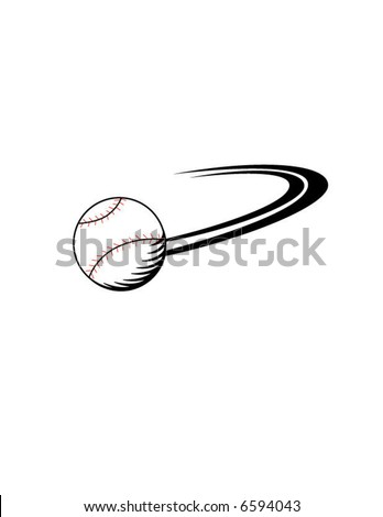 Baseball curve ball being thrown