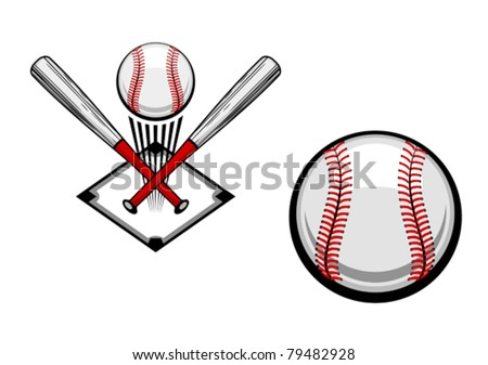 Baseball emblems set for sports design or mascot, such a logo. Jpeg version also available in gallery