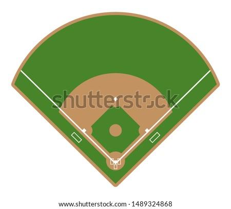 Baseball field icon. Flat illustration of baseball field vector icon for web design