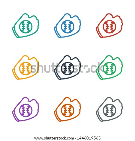 baseball glove icon white background. Editable outline baseball glove icon from sport. Trendy baseball glove icon for web and mobile.